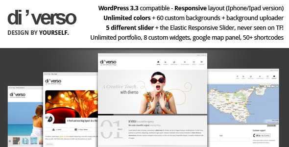 Di'verso WordPress Theme Free Download by ThemeForest.