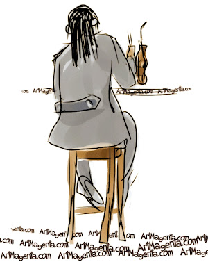 The agronomist from Le Havre is a gesture drawing by Artmagenta