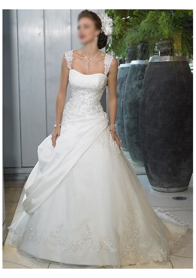 Wedding Dresses With Thick Lace Straps - Flower Girl Dresses