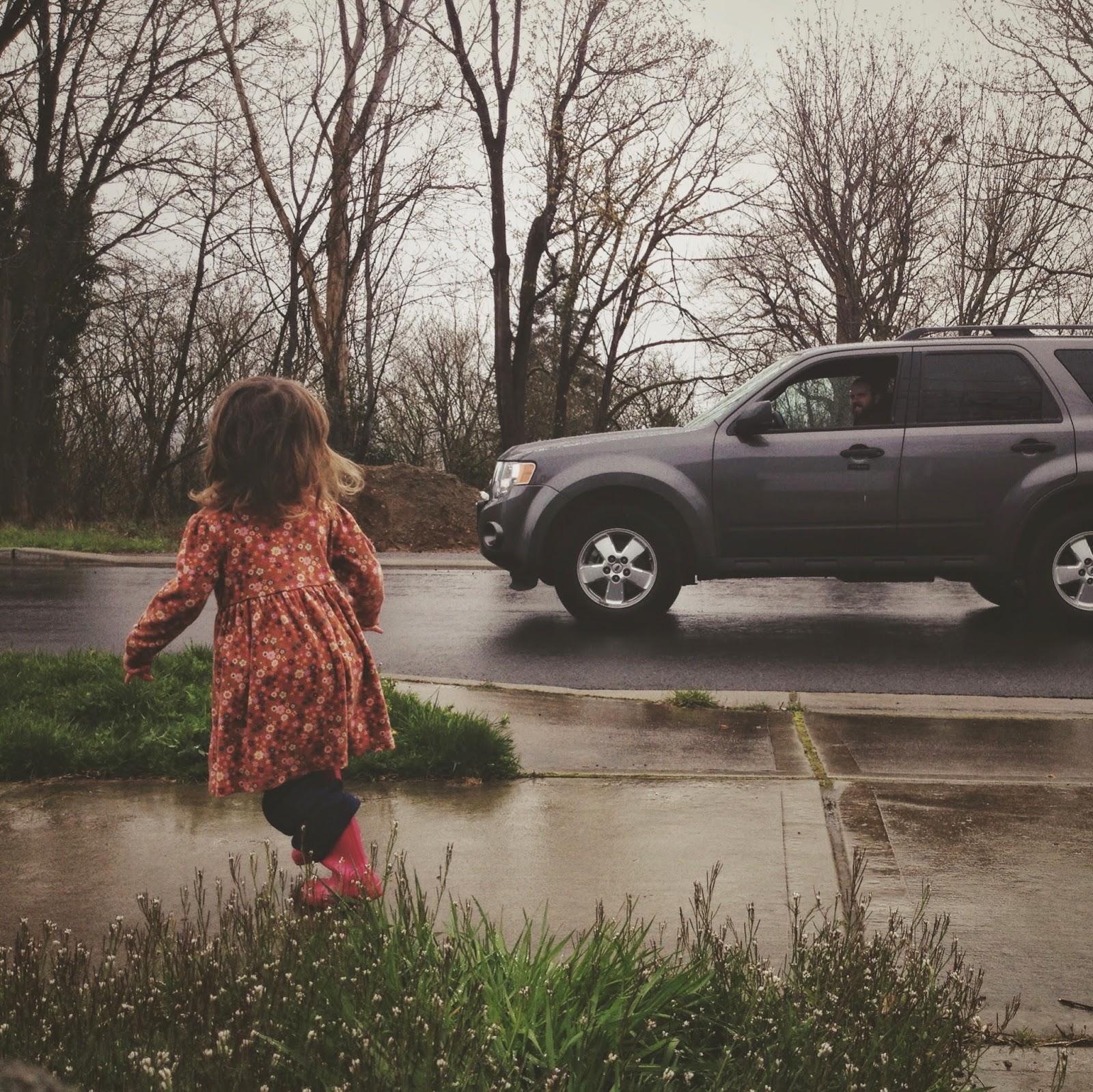 chasing papa's car