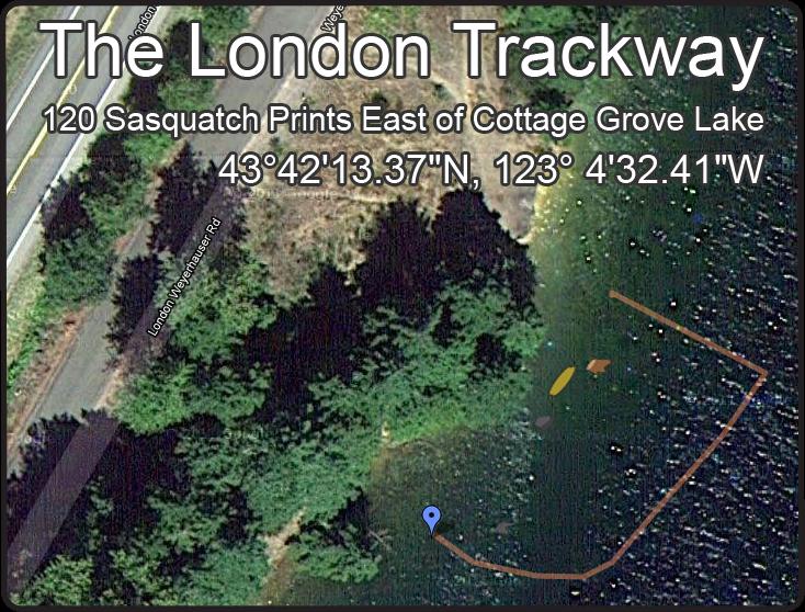 Satellite with Lattitude and Longitude of London Trackway (click to enlarge)