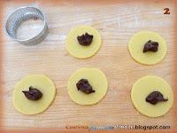 Fagottini di pasta frolla con la nutella