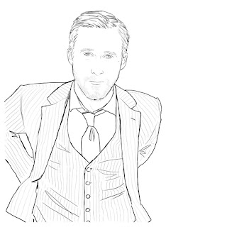 Ryan Gosling para colorear