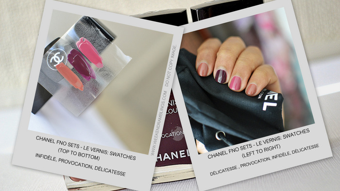 Fashions Night Out FNO Sets Chanel Makeup Nail Polish Le Vernis Infidele Provocation Delicatesse Indian Beauty Blog Swatches NOTD