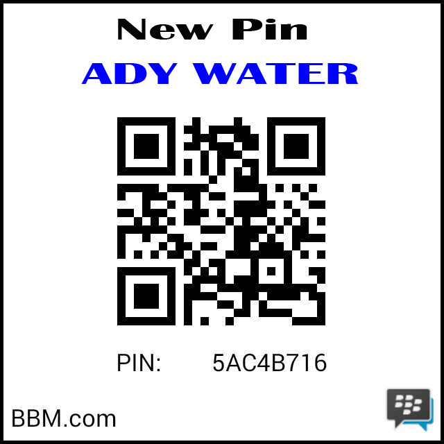 New Pin Ady Water