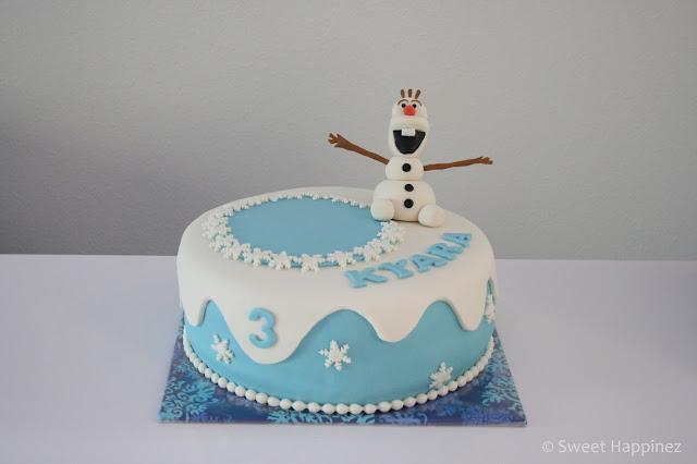 verjaardagstaart frozen zelf maken
