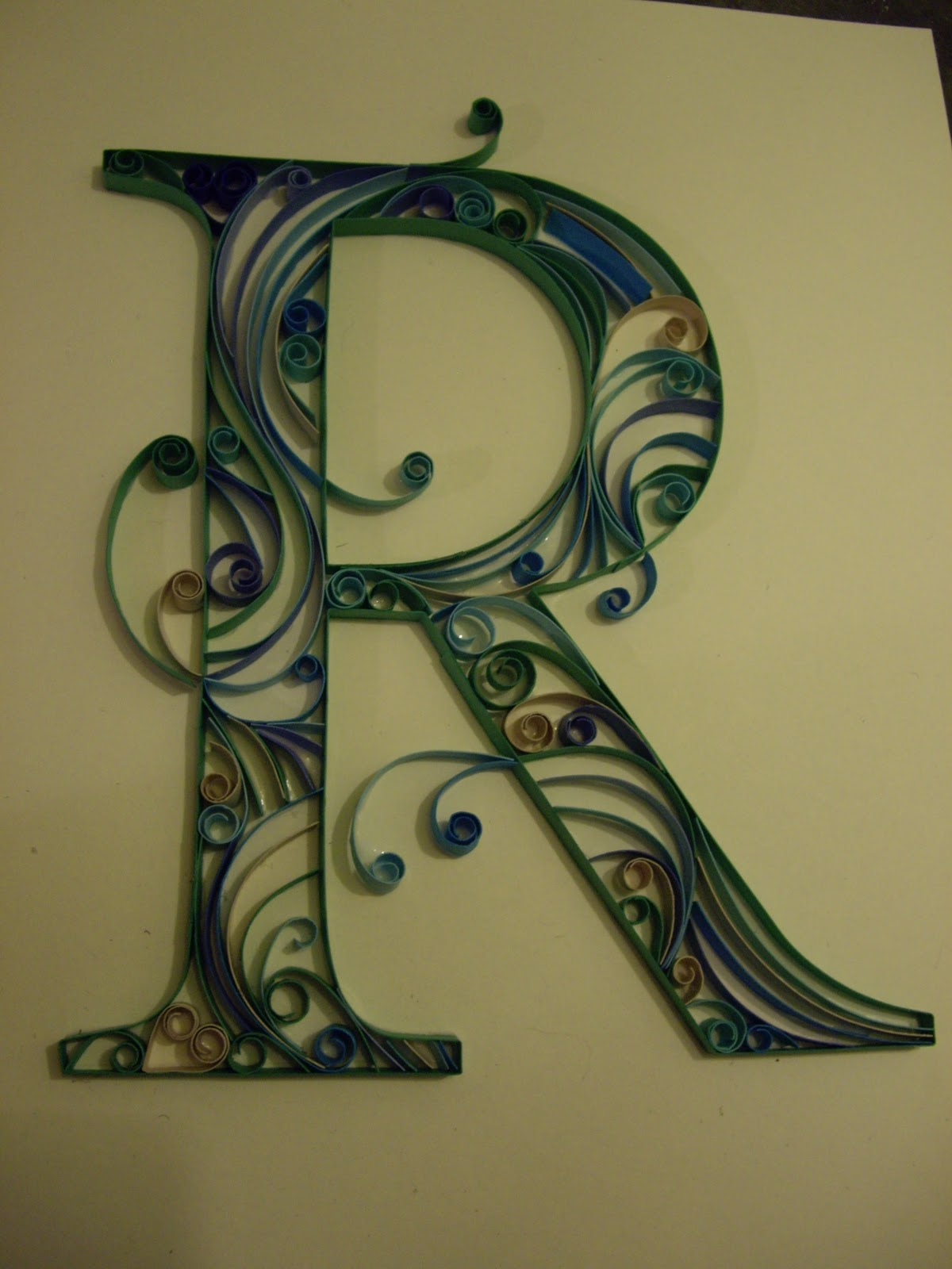 A can of crafty curiosities quilled monograms the letters c and r simple times new roman and i think that helped to simplify the letter giving it a bit more contrast between the swirly lines and the hard lines altavistaventures Choice Image