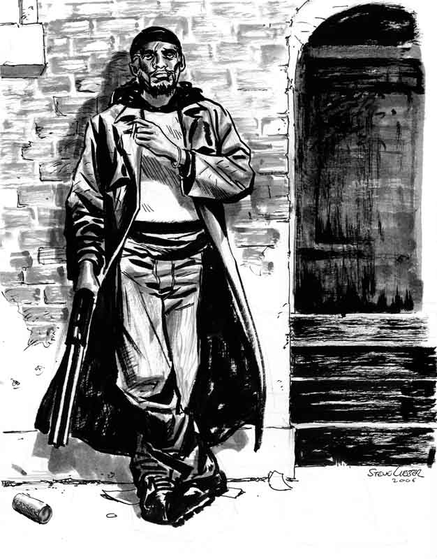 Omar from The Wire by Steve Lieber