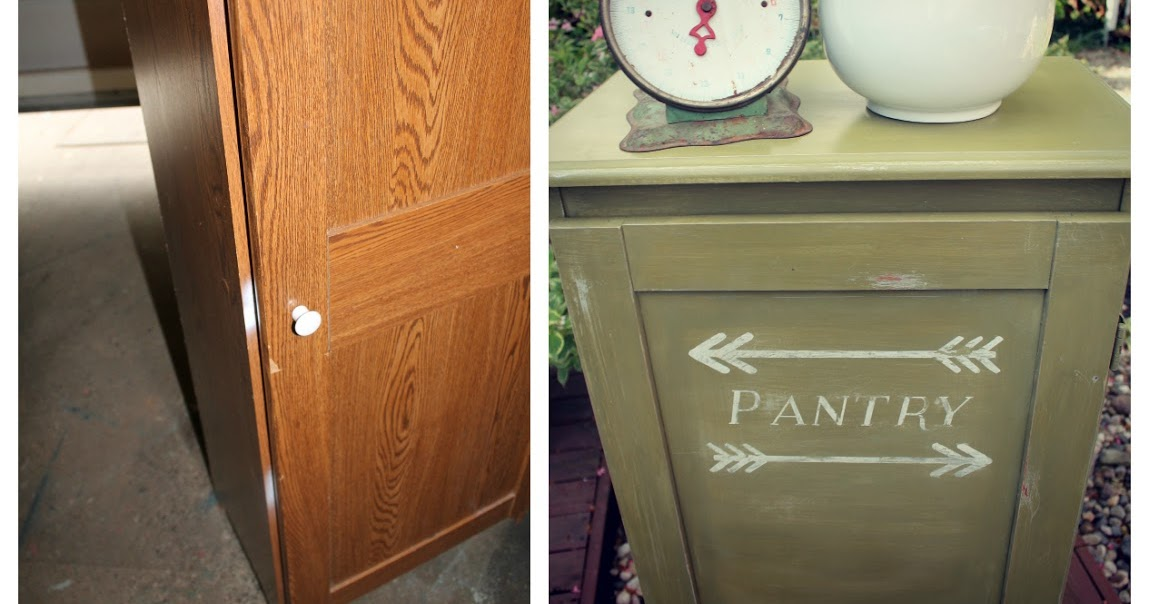 Pantry Cabinet: Vintage Pantry Cabinet with Antique Kitchen ...