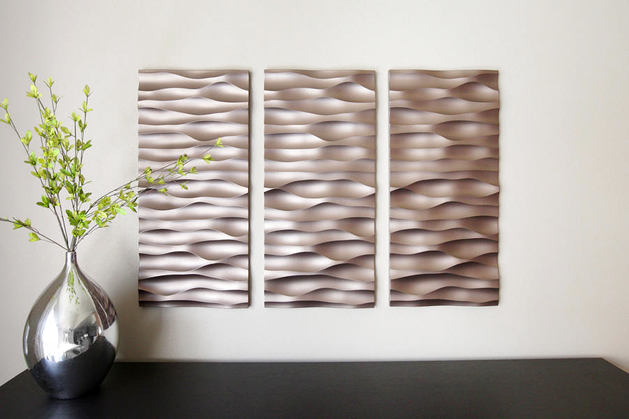 metal 3D wall art panels  textured wall panel design. Awesome 3D wall panels and interior wall paneling ideas