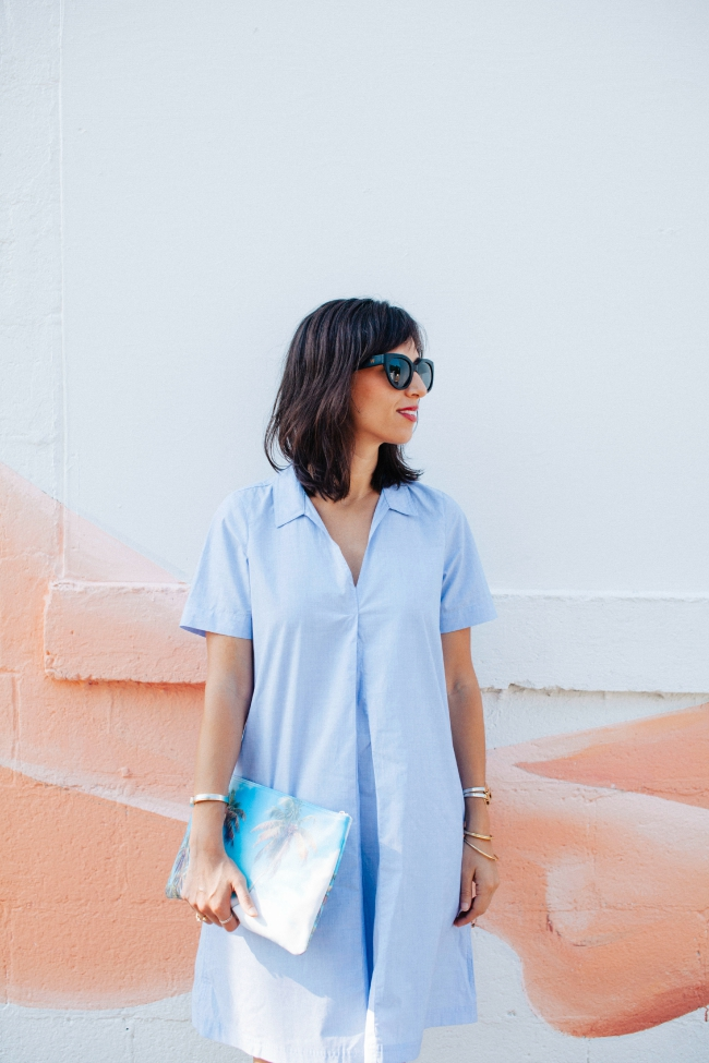 Shirtdress, Madewell shirtdress, blue dress