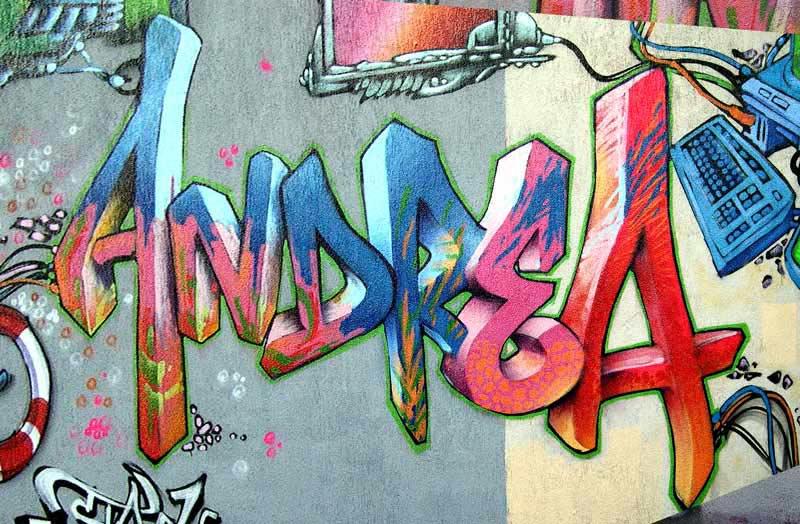 Fotos de graffitis que digan te amo - Imagui