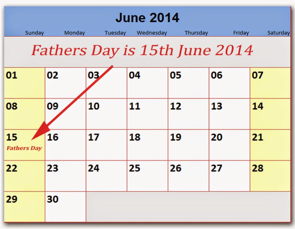 What date is father's day this year
