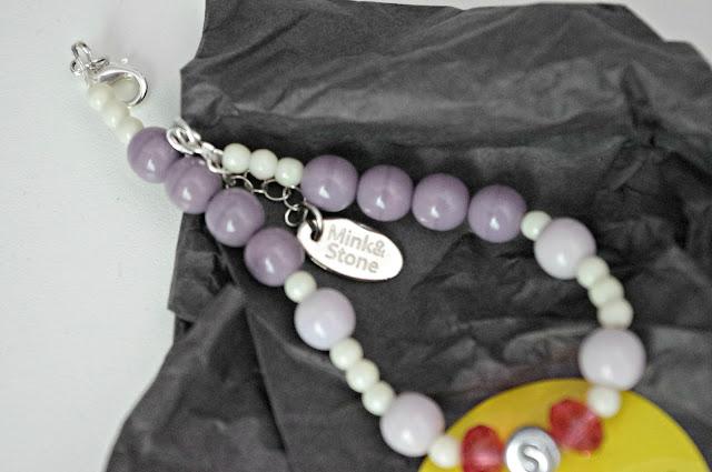 Mink and Stone Bracelet