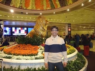 estatua do leao - mgm grand hotel - las vegas