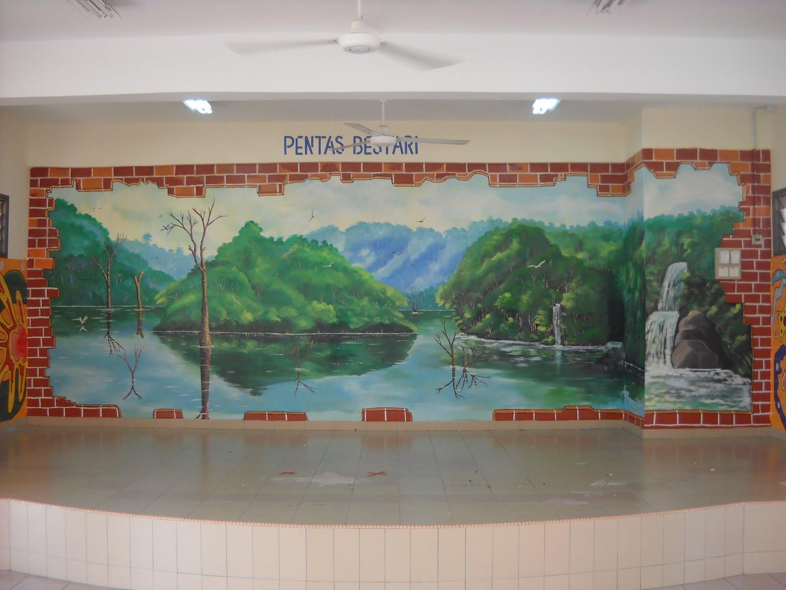 Pelukis mural shah alam lukisan 3d sungai for Mural sekolah rendah