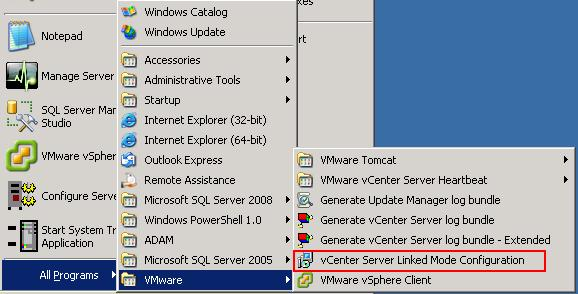 vCenter Server Linked Mode - vCenter 4.0 & vCenter 4.1