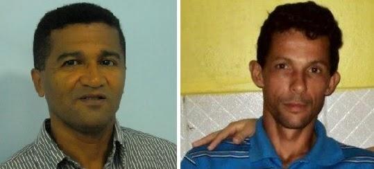 Alessandro Lopes (à direita) é acusado de envolvimento na morte de Rielson Santos Lima, prefeito de Itagimirim. (Foto: Reprodução)