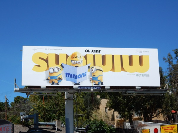 Minions movie billboard