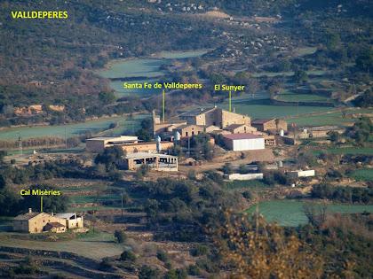 L'església de Santa Fe de Valldeperes, el Sunyer i Cal Misèries