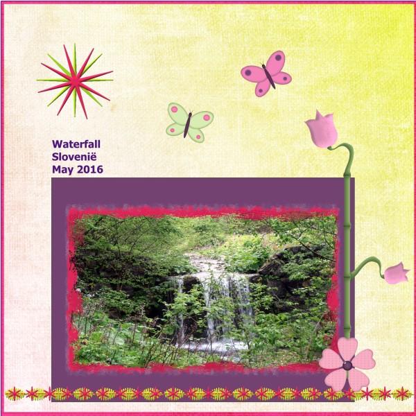 July 2016 Waterfall Slovenië May 2016