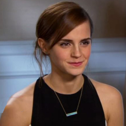 Emma Watson Wearing a Bar Necklace