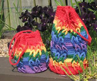Rainbow Waves Mini Crotat Bag