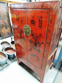 19th century, Shanxi, cabinet, red