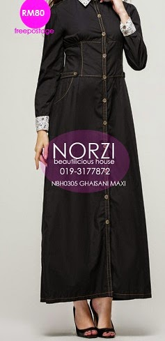 NBH0305 GHAISANI MAXI DENIM DRESS