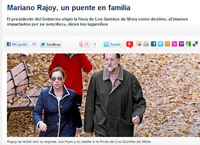 Reportaje de La Razón sobre el presidente del Gobierno