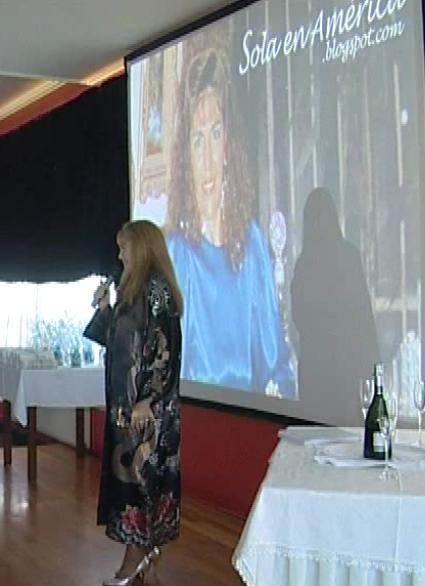 Loly en la presentación del blog en Galicia-España, en Agosto 2013