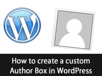How to create a custom author box in WordPress