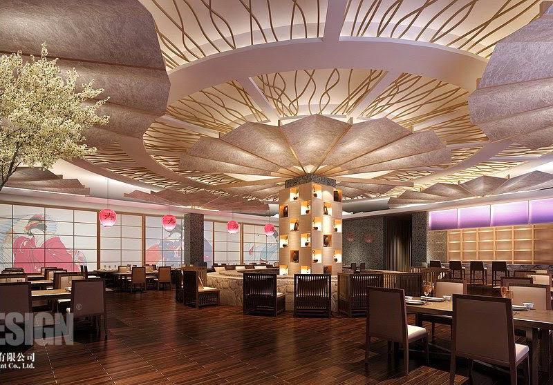 Typische Japanische Restaurant Interior Innenarchitektur
