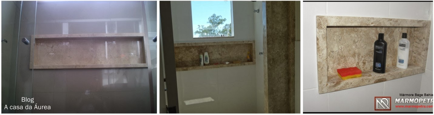 Meu Palácio de 64m² Tudo sobre nichos de banheiro -> Nicho Para Banheiro Embutido