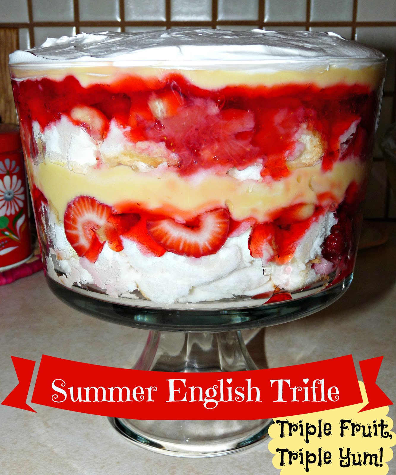 Zoe's Lunchbox: Summer English Trifle & Leftovers For Lunch