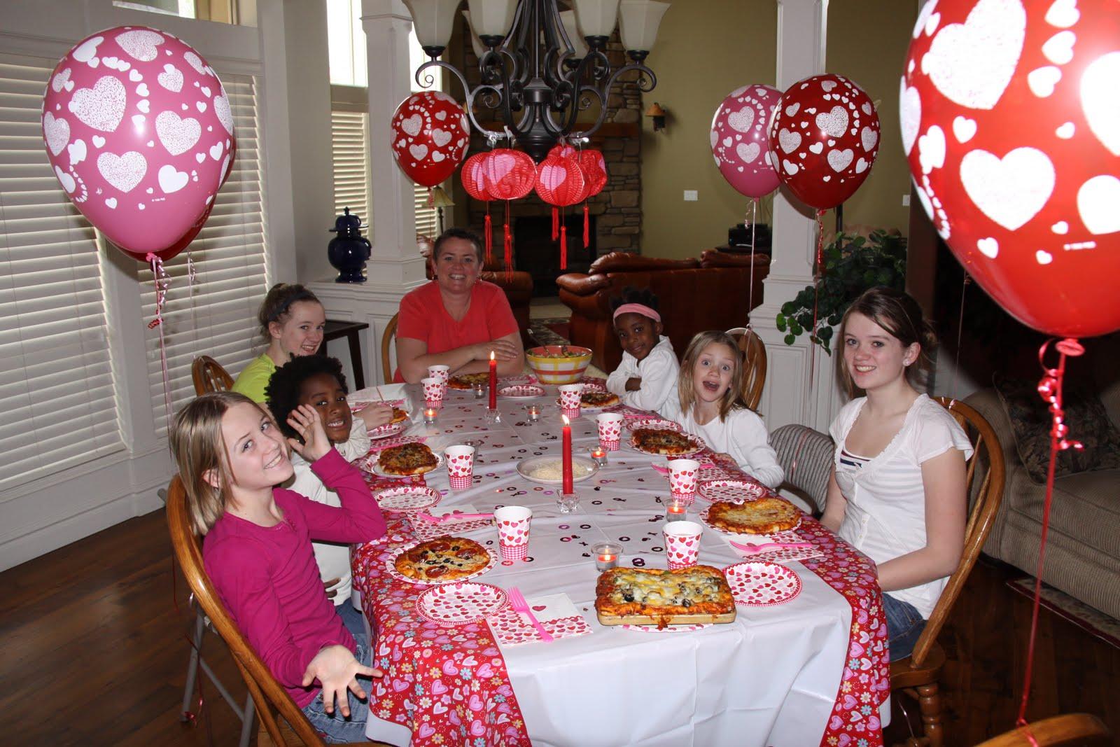 Dildine family of eight june 2011 for Valentines dinner for kids