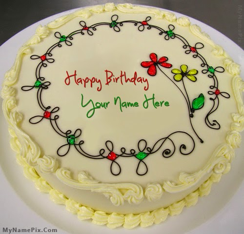 Images Of Cake With Wishes : Birthday Wishes For Friends Cake With Name   Birthday Wishes