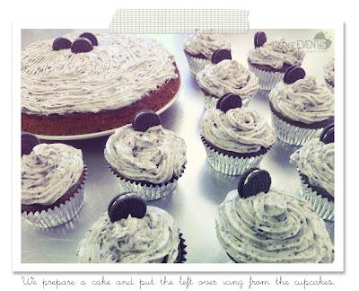 oreo cake and oreo cupcakes