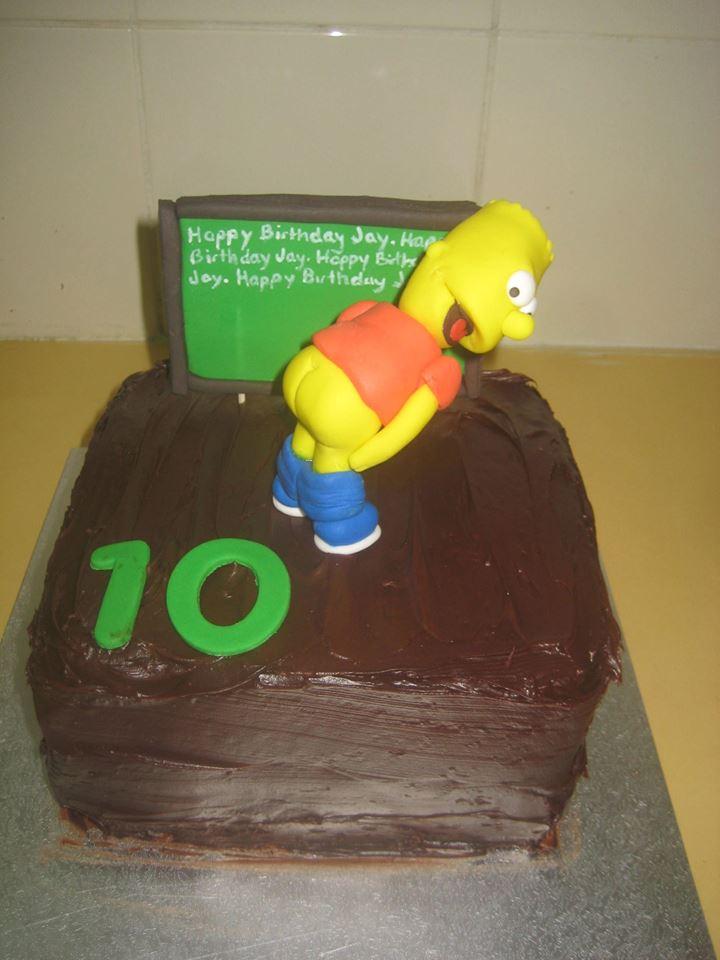 Bart Simpson Cake by Jennifer Brent