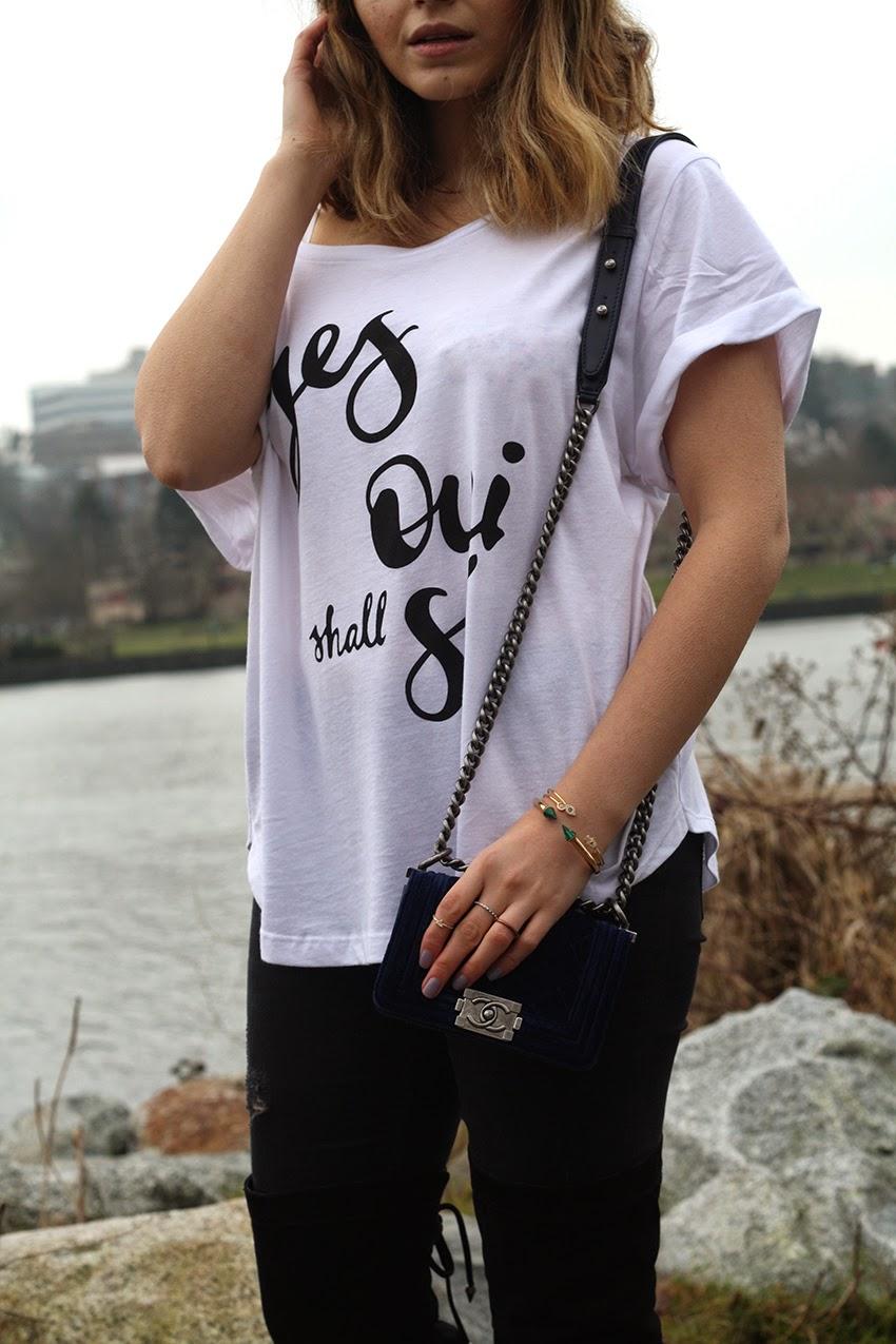 Chanel, Sam Edelman, Leather Jacket, Hair Style, BOB, Gold, LOB, Long Bob, Style, Fashion, Outfit, whowearwhat, street fashion