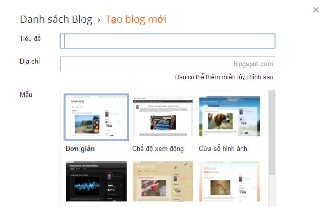 Cách tạo blogger hay blogspot