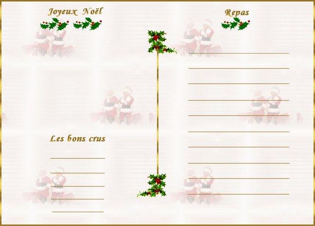 Tendance info menu noel a imprimer gratuit - Carte de menu de noel a imprimer gratuitement ...