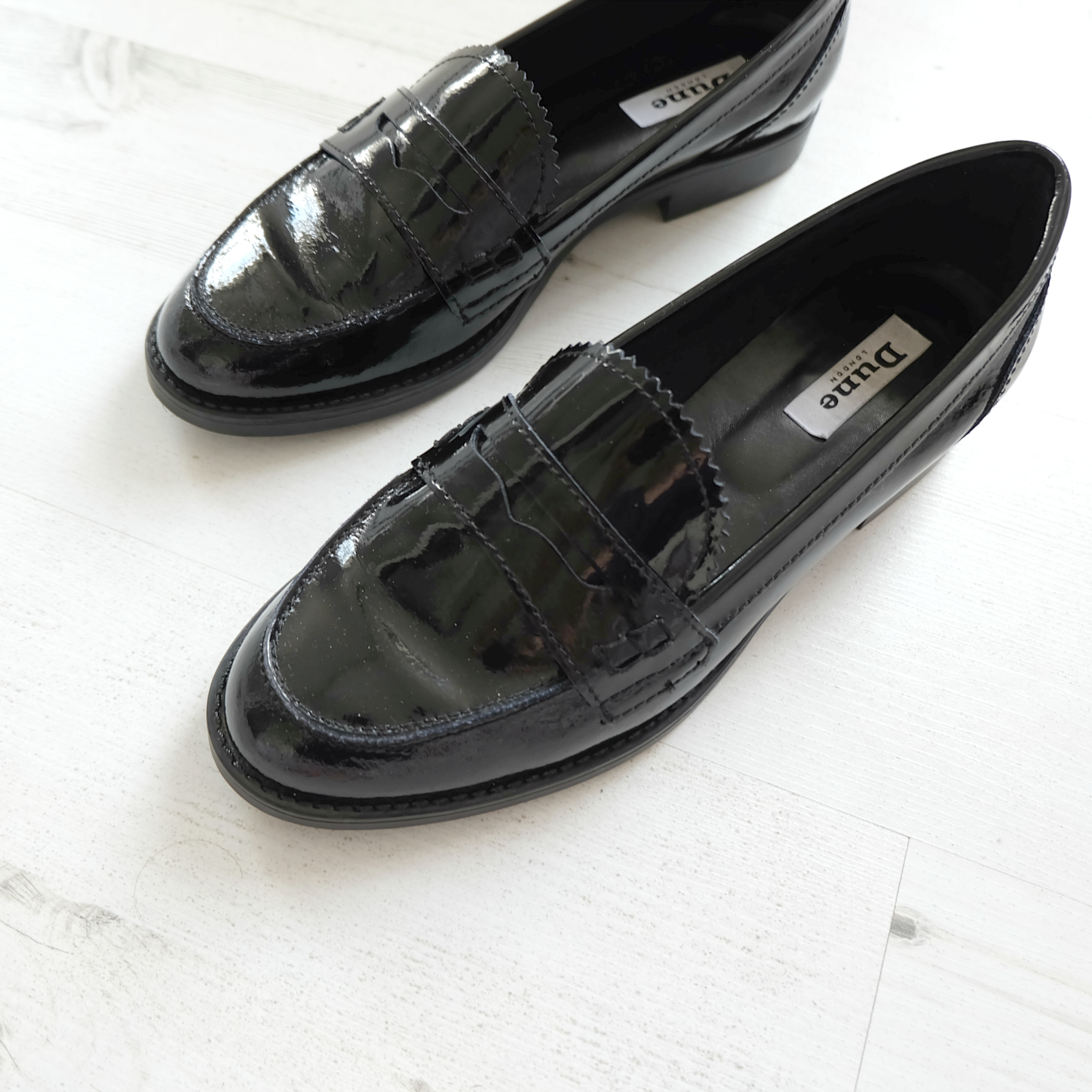 Dune Lexus Loafer black patent leather