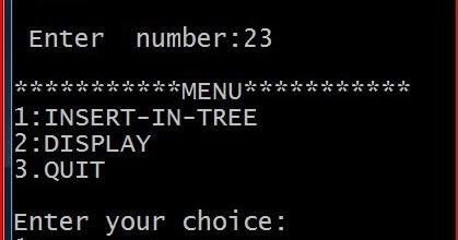 Binary search tree c struct