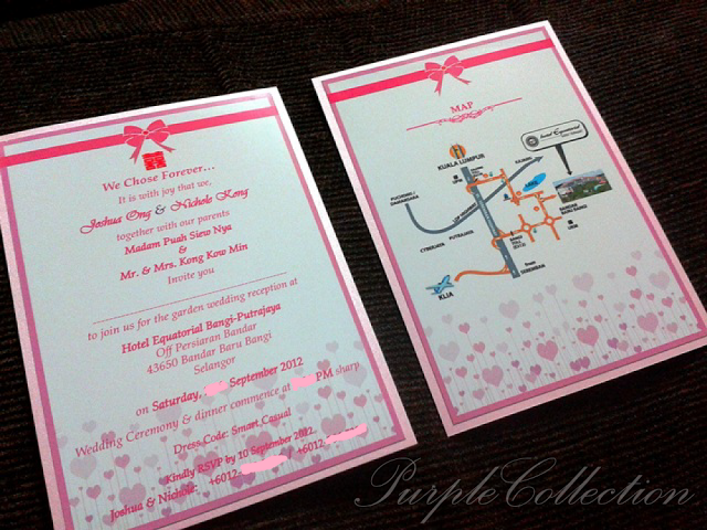 Pink Ribbon Double Sided Flat Wedding , Pink, Ribbon, Pink Ribbon, Double Sided, Flat, Wedding, We Chose Forever, Hotel Equatorial Bangi