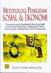 toko buku rahma: buku METODOLOGI PENELITIAN SOSIAL DAN EKONOMI FORMAT-FORMAT KUANTITATIF DAN KUALITATIF UNTUK STUDI SOSIOLOGI, pengarang burhan bungi, penerbit kencana