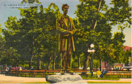 CINCINNATI POSTCARDS: Lincoln Statue, Lytle Park