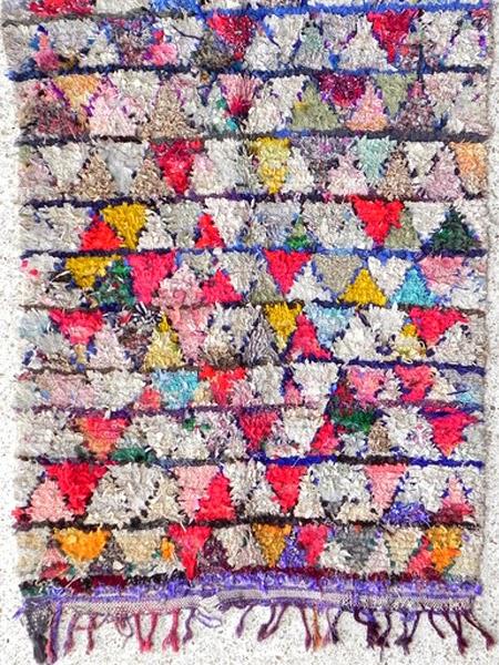 Marokańskie dywany boucherouite we wzory