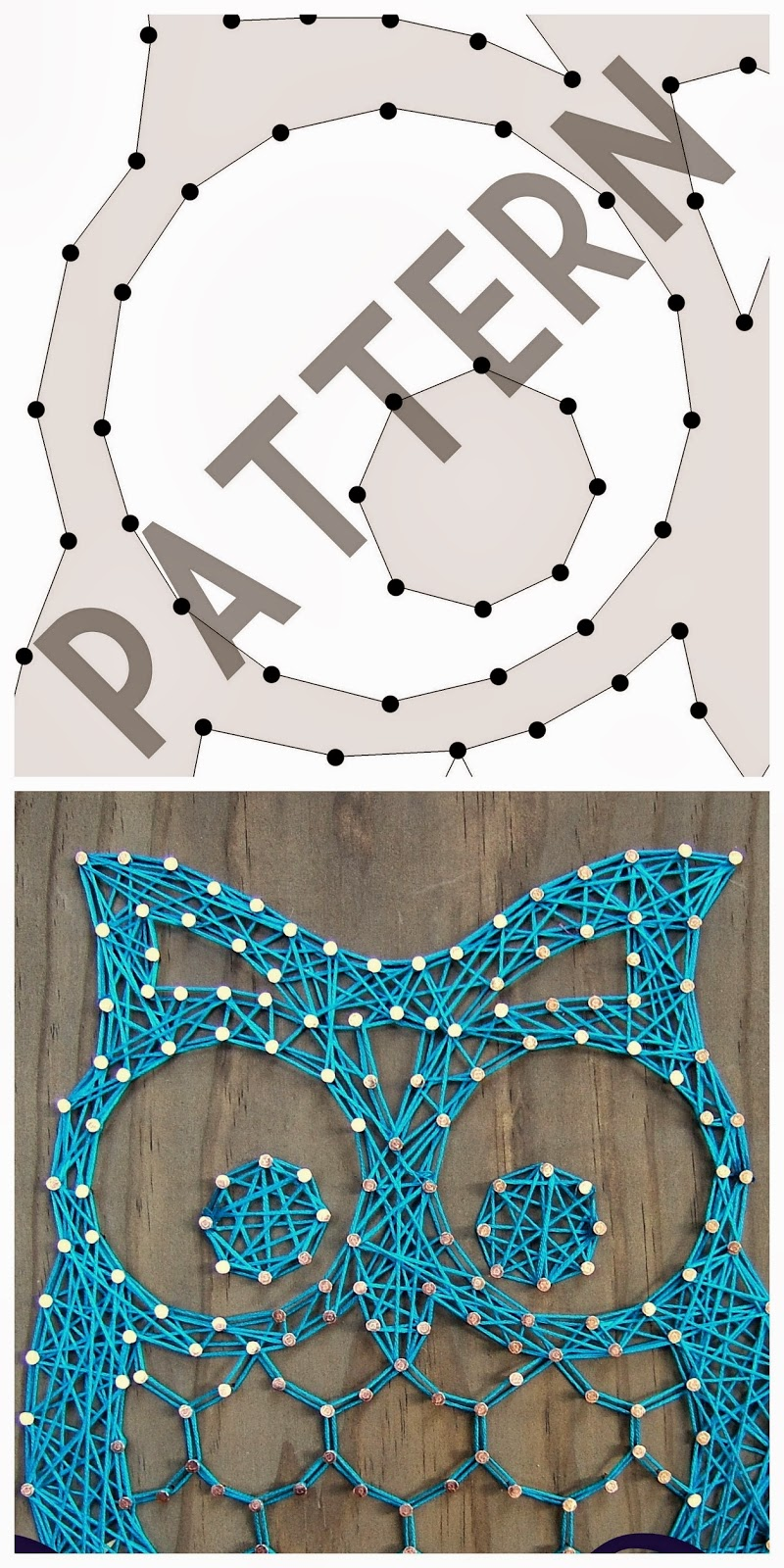 Persnickety image in printable string art patterns