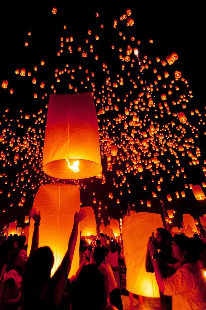 Las Linternas flotantes en Chiang Mai – Tailandia